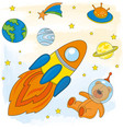 space astronaut children cartoon vector image