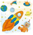 space astronaut children cartoon vector image vector image