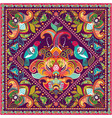 square ornamental pattern with flowers vector image vector image