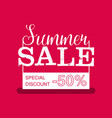 Summer Sale banner Vintage design vector image