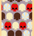 Sweet candy skulls seamless pattern Head skeleton vector image