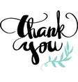 thank you calligraphy design vector image vector image