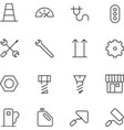 Thin Line Icons For Industrial vector image vector image