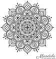 Tibetan mandala decorative ornament design vector image vector image