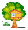 tree house children playground house on vector image vector image