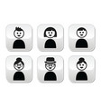 User young and old people buttons set vector image vector image