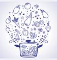 vegetable ragout vector image vector image