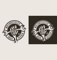 vintage motorcycle repair service round logo vector image vector image