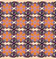 vintage outline floral orange pink and beige vector image
