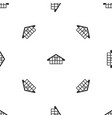warehouse pattern seamless black vector image vector image
