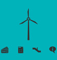 windmill icon flat vector image vector image