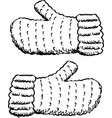 wool fingerless gloves vector image vector image