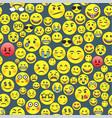 emoji seamless pattern vector image