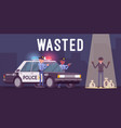wasted in video game vector image