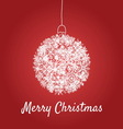 Christmas card with a ball vector image