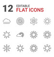 12 sunlight icons vector image vector image