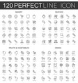 120 modern thin line icons set of bakery seafood vector image vector image