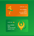 abstract people business cards vector image