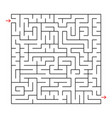 abstract square labyrinth with a black stroke an vector image vector image