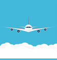 airplane in the sky commercial in front vector image