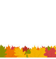autumn leaf on a white background vector image vector image