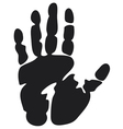 black print of a hand vector image