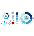 blue abstract medicine infographics template vector image