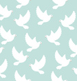 Blue bird pattern vector image vector image