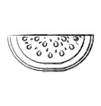 blurred thick silhouette of watermelon fruit cut vector image vector image