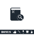Book search icon flat vector image vector image