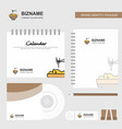 bowl logo calendar template cd cover diary and vector image vector image