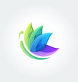 butterfly icon logo design template vector image vector image