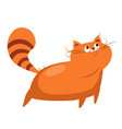 cat funny alphabet animal vector image vector image