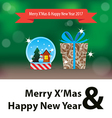 Christmas and New Year Gift 2017 vector image