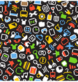 Color pixel style icons seamless background