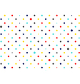 Colorful Dots White Background vector image vector image