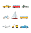 Comic Transport Set vector image vector image