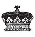 coronet of an english duke vintage engraving vector image vector image