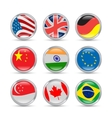Countries flags icons vector image vector image