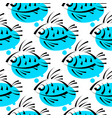 cute fish kids background seamless patternshop vector image