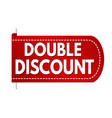 double discount banner design vector image vector image