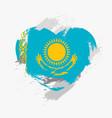flag of kazakhstan vector image vector image