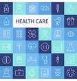 Flat Line Art Modern Healthcare and Medicine Icons vector image vector image