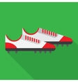 football boot flat icon vector image vector image