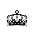 french crown isolated royal heraldry symbol vector image vector image