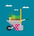 garden concept design flat vector image