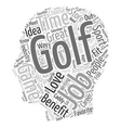 Golf Jobs What A Great Life text background vector image vector image
