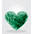 Green heart geometric shape vector image vector image