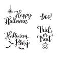halloween typography set vector image vector image