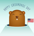 Happy Groundhog Day with Groundhog vector image vector image